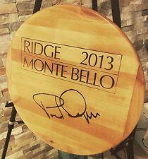 """Artisan Lazy Susan Ridge Monte bello NAPA Wines 17"""" w/Bearing Handmade"""