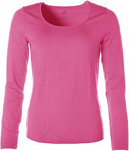 Jette Damen Basic Langarm Shirt T-Shirt Rundhals Rosa 40 X4859