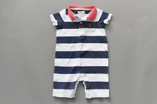 Ralph Lauren Red Blue 4th of July Striped Polo one Piece, Size 9 Months