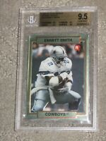 1990 Action Packed Emmitt Smith #34 Rookie BGS 9.5 Solid Gem Mint