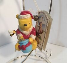 Vintage DISNEY Classic Pooh CHRISTMAS WINNIE THE POOH BEAR Ornament With Tag EUC