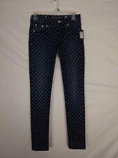 NEW Miss Me Womens Jeans Size 25 Skinny Polka Dot Cotton Stretch JS5151S25
