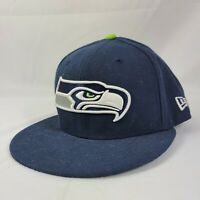 Seattle Seahawks SEA NFL Authentic New Era 59FIFTY Fitted Cap Hat Navy 7 1/4