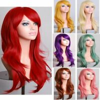 Women's Long Straight Full Wigs Cosplay Party Costume Anime Hair + Free Hair Cap