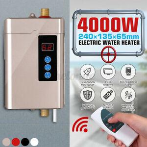 110V Electric Hot Tankless Water Heater Shower Instant Boiler Bathroom Kitchen