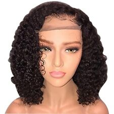 Short Lace Front Human Hair Wigs Pre Plucked With Baby Hair Curly Brazilian S6U5