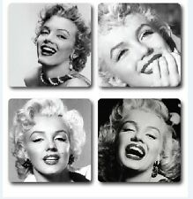Marilyn Monroe Inspired Coasters Set of 4 High quality hardwood backed