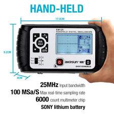 Oscilloscope Digital Handheld Scope 25mhz Bandwidth Dmm 1 Channel Multimeter