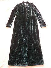 Sara Sturgeon 1970s vintage style green velvet coat Made in England Size 3 UK 12