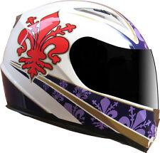 Casco Moto Integrale FIRENZE Fiorentina Giglio