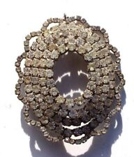 Vintage Victorian Faux Diamonds Cocktail Pin Brooch Costume Jewelry