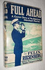 FULL AHEAD Career Story American Merchant Marine, RIESENBERG, 1944 HCw/dj SIGNED
