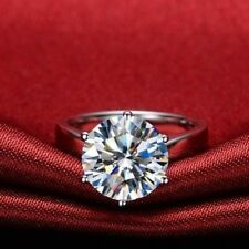 For Women In 925 Sterlin Silver Gorgeous Round 3.20Ct Moissanite Engagement Ring
