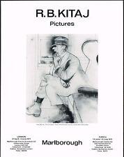 1977 Vintage Marlborough Gallery Kitaj Exhibition Jew Art Print Ad