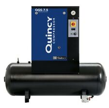 2021 New Quincy Qgs 75 Rotary Screw Air Compressor 75 Hp With 60 Gallon Tank