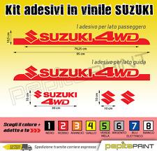 Kit adesivi Suzuki vitara samurai jimny santana fiancate fasce laterali 4wd
