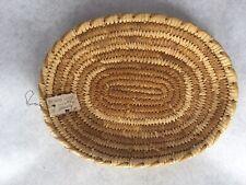 Genuine Papago Native American Basket Oval Shallow Basket