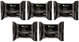 5 Garnier SkinActive Purifying Oil-Free With Charcoal, 25 Wet Towelettes Each