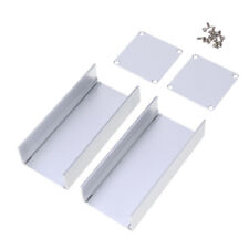 Extruded Aluminum Electronic Power Enclosure Case Box Project DIY, Silver