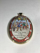 Halcyon Days Enamel Christmas Pendant Limited Edition