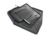 2013 thru 2017 Ford OEM Escape Black Rubber All Weather Floor Mat Set 4-pc