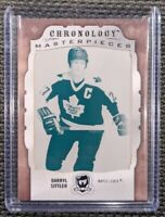 2018-19 The Cup Chronology Masterpieces 1/1 DARRYL SITTLER Cyan Printing Plate