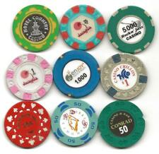 Collection Of 9 Different Casino Chips Or Jetons From South America-Lot 4