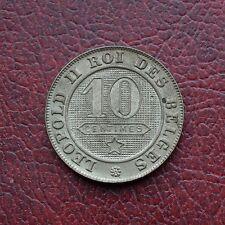 Belgium 1894 copper-nickel 10 centimes