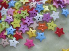 100x Stars Plastic Buttons/craft 2 holes lots Mix F065