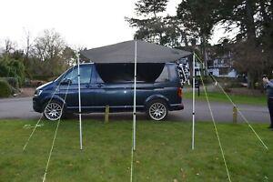 DELUX Sun Canopy Awning VW Camper Van Motorhome Any Van 2.4m x 3m MEDIUM GREY