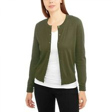 Faded Glory Button Front Crew Neck Cardigan Color Light Green Size XL  --A7--