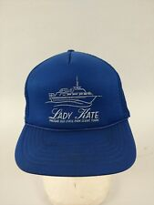 Vintage LADY KATE Presque Isle State Park Blue Snapback HAT Adjustable Mesh Cap