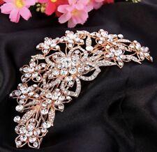 Demoiselle D'honneur Mariée Mariage Autrichien Cristal Suisse Coupe Diamant Cheveux Peigne or rose