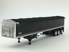 1/64 DCP BLACK WILSON TRI-AXLE GRAIN TRAILER W/ BLACK UNDERCARRIAGE & TARP