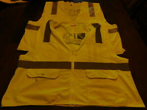 MCR Safety Bright Yellow Reflective Safety Vest Lot (Two Vest XL & 2XL)