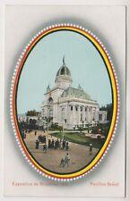 Bruxelles Exhibition 1910 postcard - Pavillon Bresil