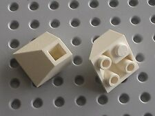 LEGO White slope brick 3676 / Set 7106 6982 6541 6386 8280 7191 1854 ....