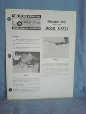 Wheel Horse Model 8-5521 Slot Hitch Operators, Assembly, & Parts List. Original!