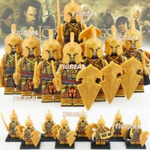 8pcs Elf Orc Gondor Dwarf Lord of The Rings Military Army for Lego Minifigures