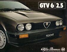 Alfa Romeo GTV 6 2.5 1981-82 UK Market Launch Foldout Sales Brochure