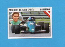 SUPERSPORT 1986-PANINI 86-Figurina n.44-BERGER-BENETTON-AUTOMOBILISMO-Recuperata