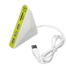 QHE 3 in 1 USB 2.0 Hub 3 Port USB HUB With SD TF Mico SD Card Reader