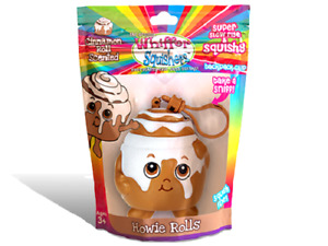 NEW WHIFFER SNIFFERS SQUISHERS HOWIE ROLLS CINNAMON ROLL SCENTED SQUISHY BP CLIP