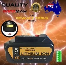 1x Platin for DEWALT BATTERY with LED DCB182 18V 20V 5.0AH XR LI-ION DCG412 5Ah