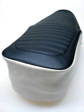 Motorcycle seat cover - Honda C90 in black & beige