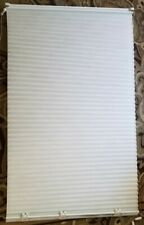 """Light Filtering Pleated Fabric Shade White 33 7/8"""" x 60"""" Window Cover Home RV"""