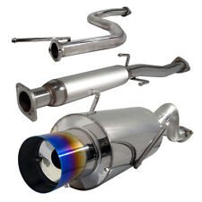 """Stainless Rear 4"""" Burn Tip Cat Back Exhaust System Bolt On for Acura Integra"""