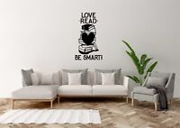 Love Read Be Smart Inspired Design Home Bedroom Wall Art Decal Vinyl Sticker