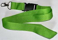 Grünes unbedrucktes green vert Schlüsselband Lanyard NEU (E71)