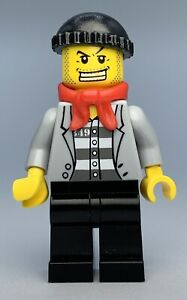 Lego Town City JAIL PRISONER, RED BANDANA Minifigure cty0254 FAST SHIPPING!